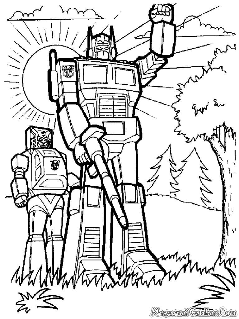Judul : Mewarnai Robot Transformer