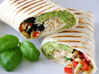 Grilled Mediterranean Couscous Wrap with Balsamic Glaze