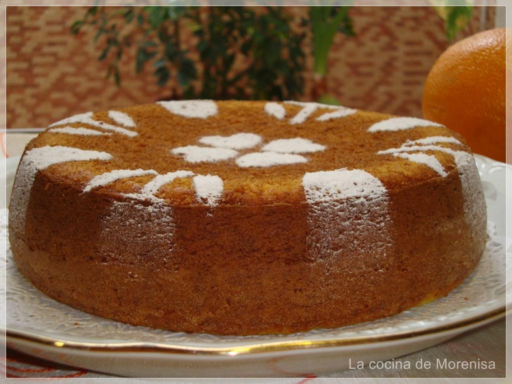 La cocina de morenisa bizcocho de naranja con az car for Cocina con sergio bizcocho