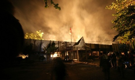 Lapas Tanjung Gusta Medan Dibakar Napi Teroris Ikut Kabur