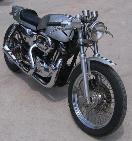 Harley-Davidson SPORTSTER 1200 Custom cafe racer . Harley-Davidson SPORTSTER Cafe Racer Pattaya Thailand