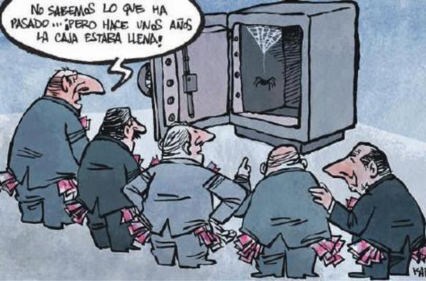 Resultado de imagen de Políticos y banqueros