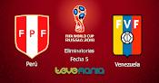 Peru vs Venezuela en Vivo por Internet - Canal CMD y ATV - Eliminatorias Rusia 2018