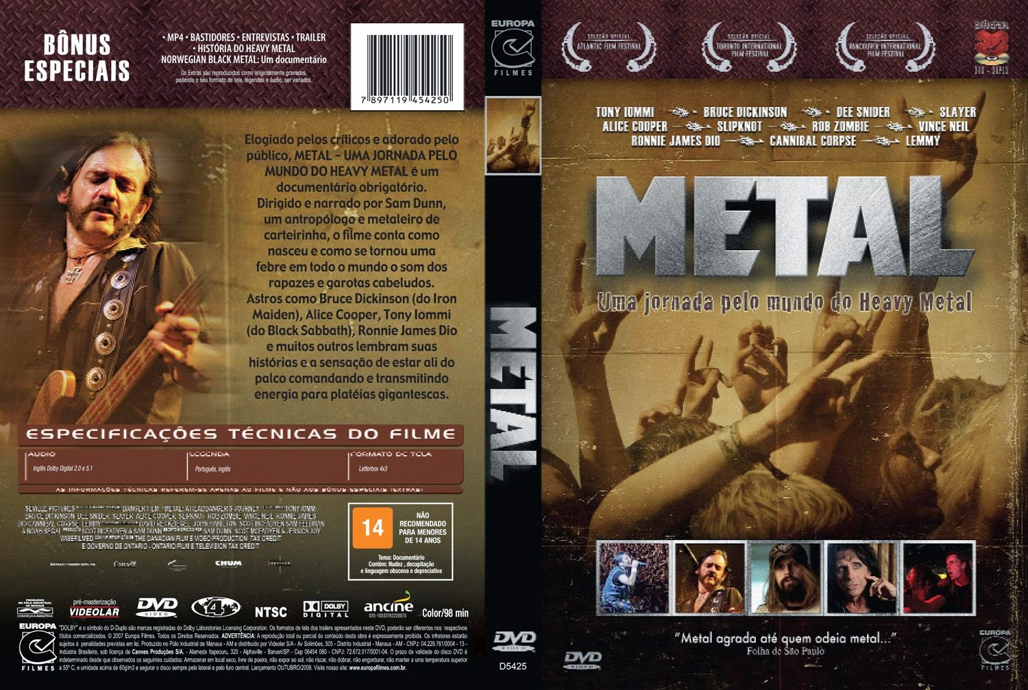 Capa DVD Metal