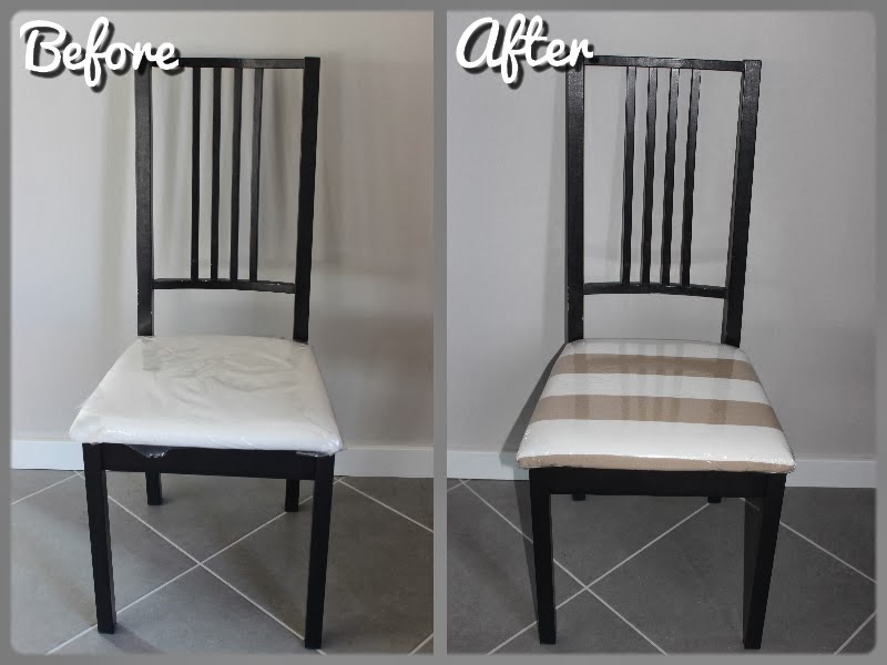 tryin to make a home replacing your chair cover diy recouvrir vos chaises. Black Bedroom Furniture Sets. Home Design Ideas
