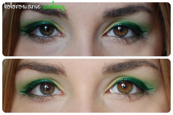 zielony makijaż
