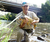 A nice carp on the fly on the last Carp-Slam V practice day
