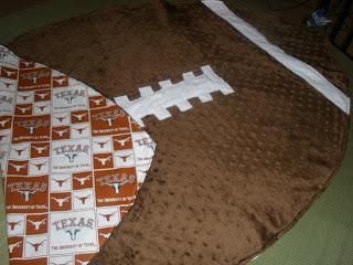 Football Baby Blanket