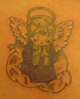 Cartoon Angel Tattoos