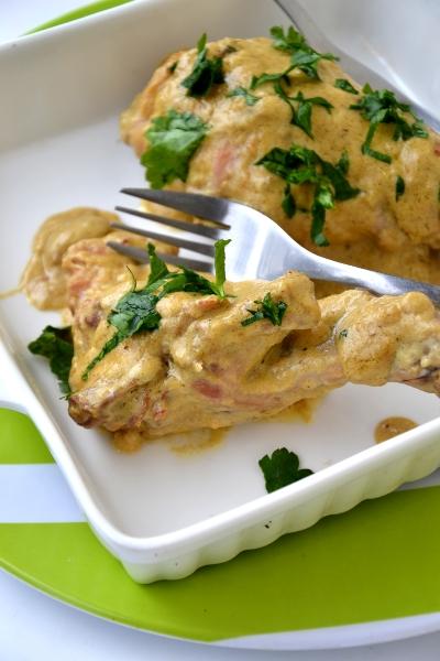 coniglio alla senape e panna vegetale