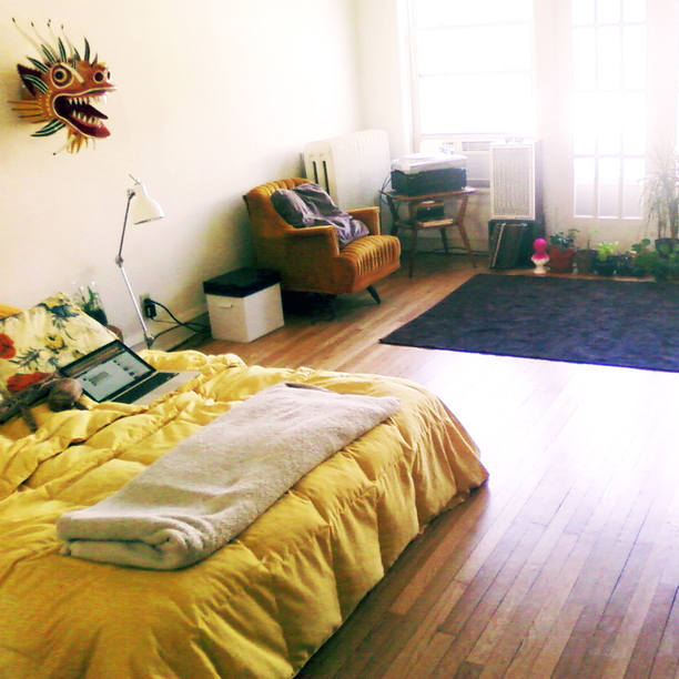 Moon to moon bohemian bedroom adding a splash of colour for Bright yellow bedroom ideas