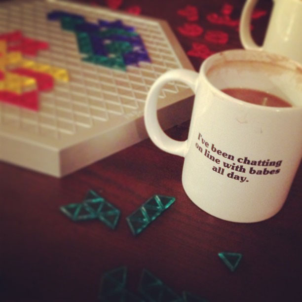 hot chocolate, game night, blokus, funny quote mug, napoleon dynamite