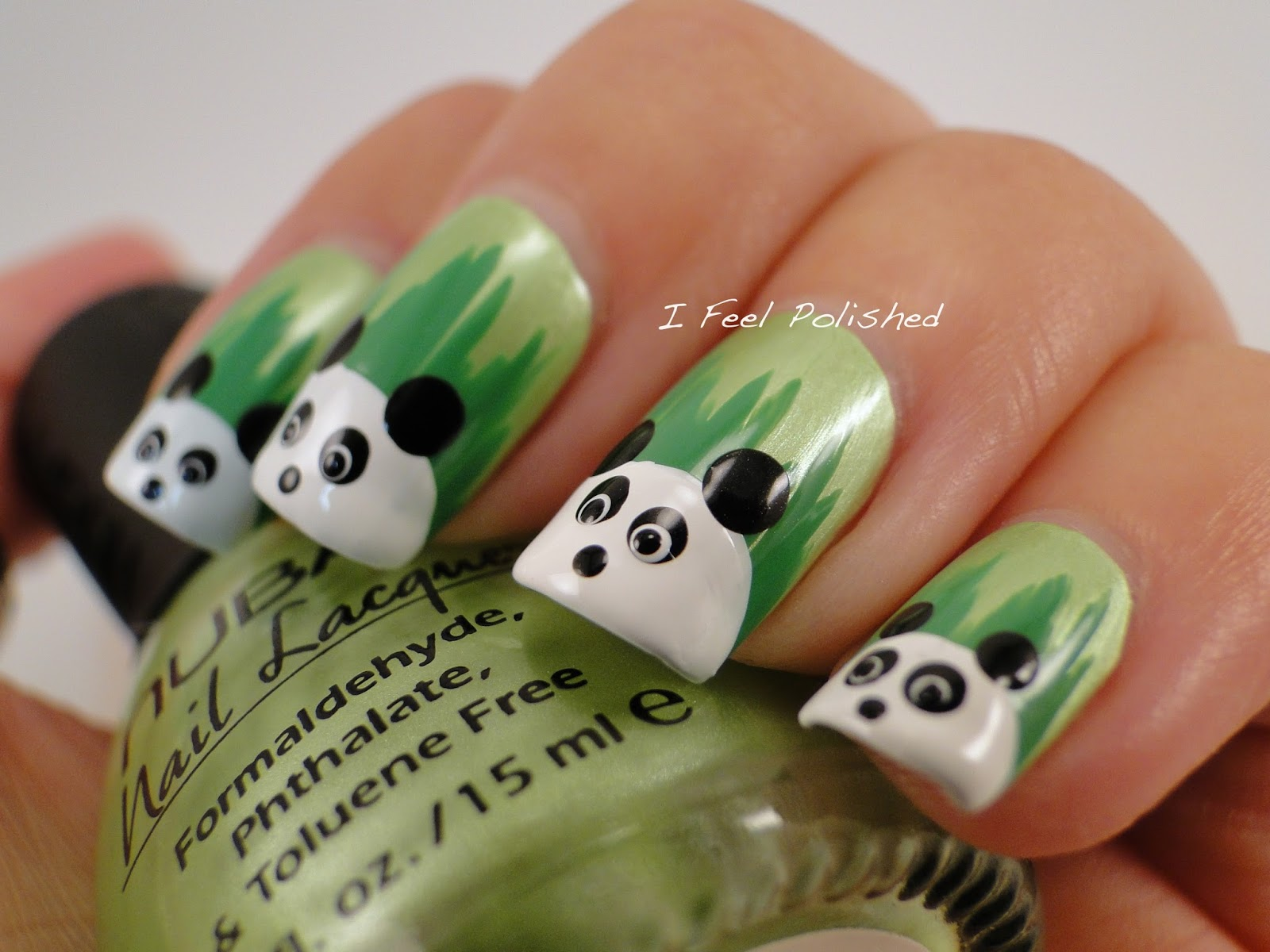 I feel polished panda nails zoo nails prinsesfo Images