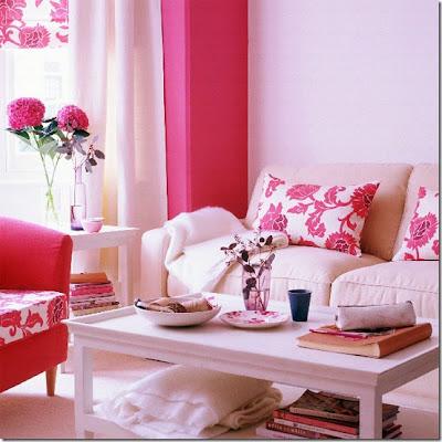 sala de estar almofadas floral