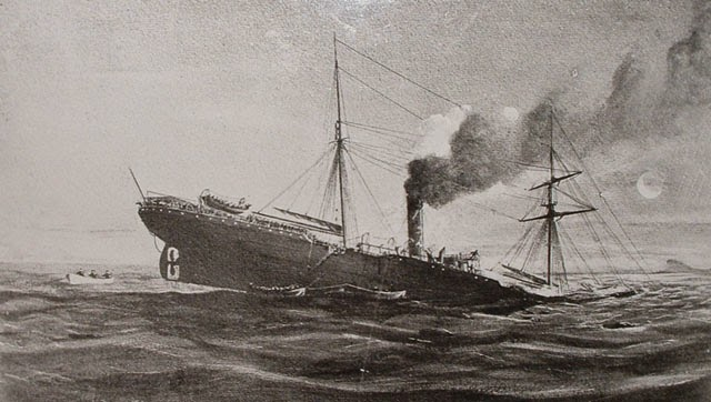 Wreck of the RMS Teuton 1881