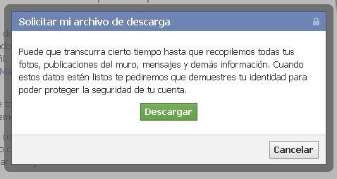 Confirmar Identidad Facebook 2013