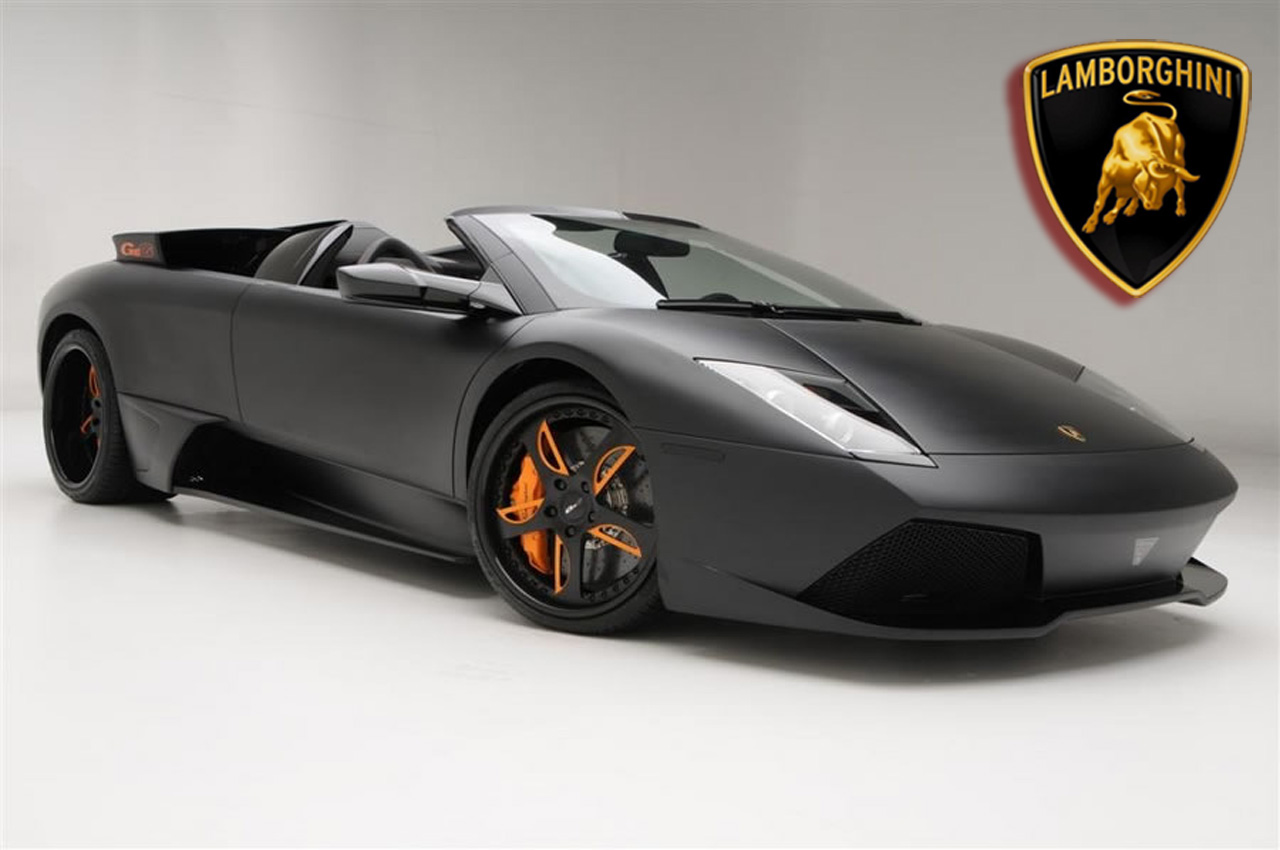 Luxury Lamborghini Cars: Black Lamborghini Murcielago Wallpaper