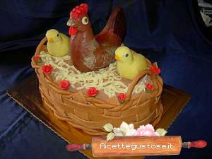 http://www.ricettegustose.it/Dolci_e_decorazioni_html/Torta_cesto_con_gallina_e_pulcini_di_cioccolato.html