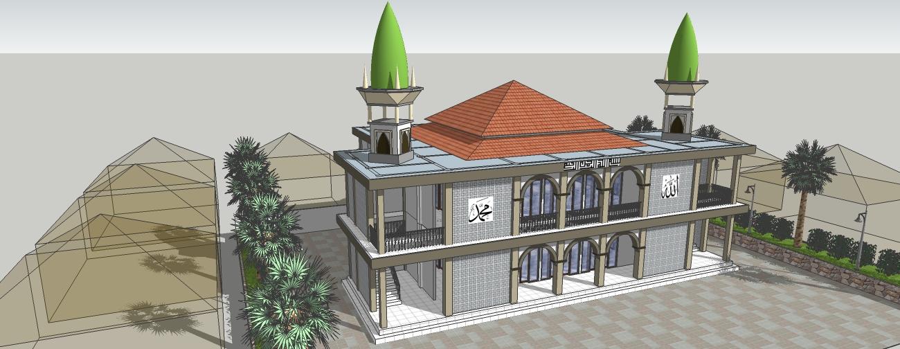 gambardesain3d desain masjid