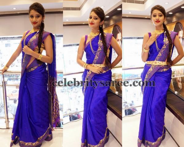 Sowmya Blue Silk Saree