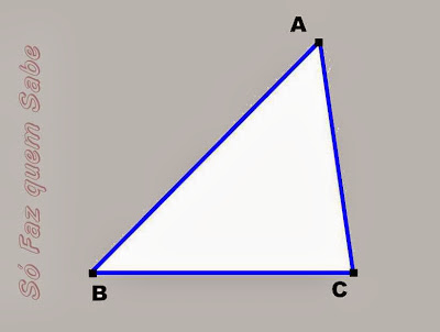 Traçando um triângulo para construir sua mediana