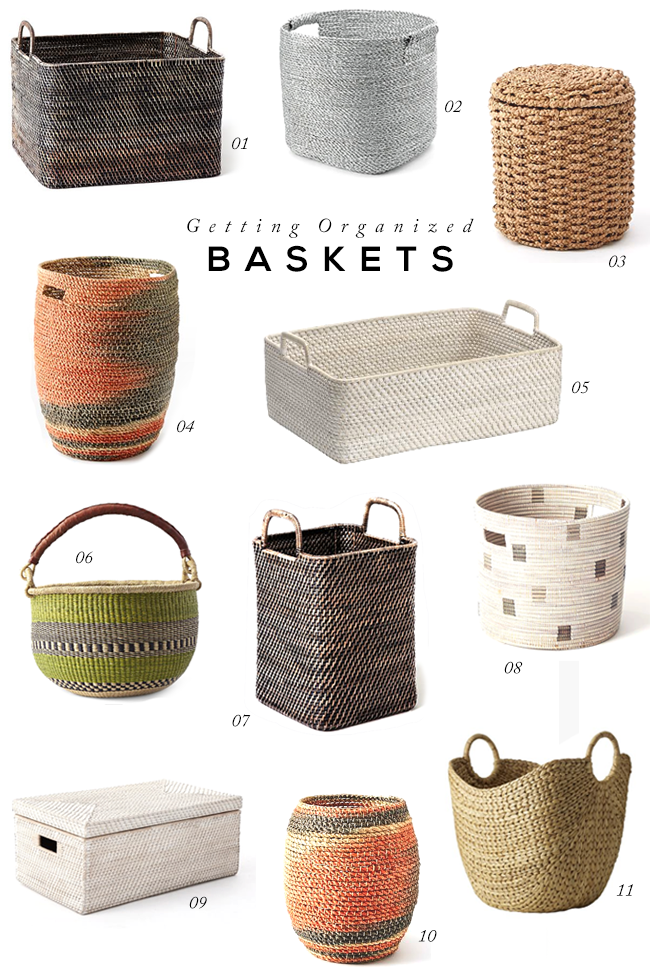 Getting Organized with Baskets // Bubby and Bean