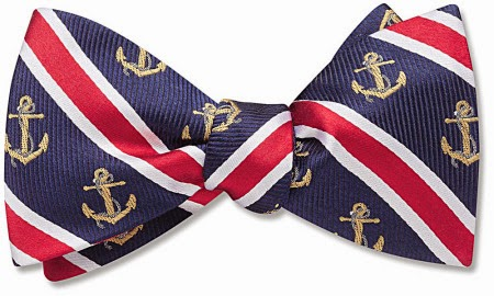 Admiralty bow tie from Beau Ties Ltd.