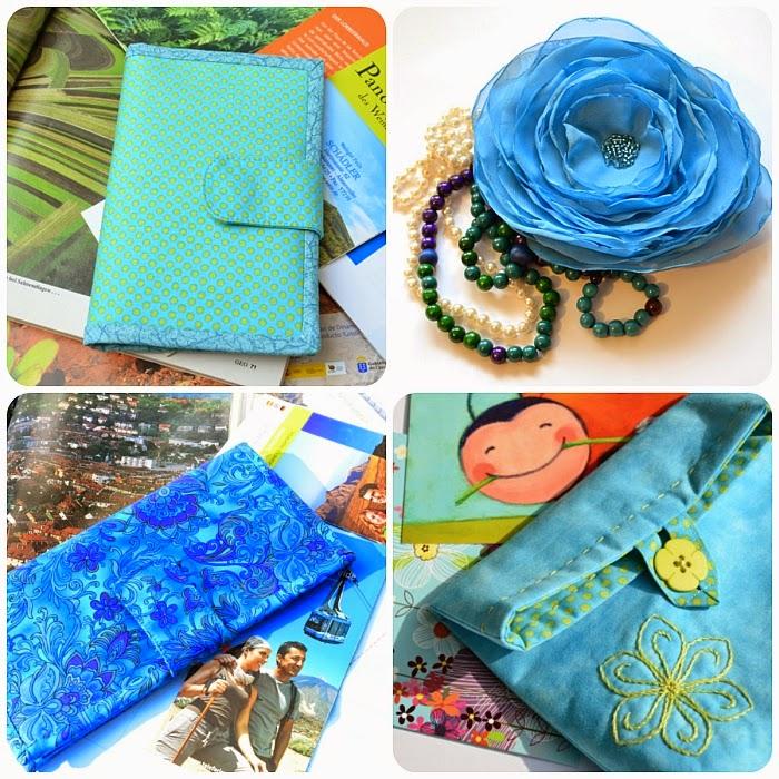 текстильные холдеры, косметичка, роза-заколка, автор Ольга Граф