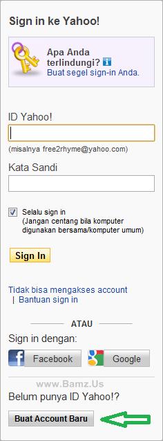 langkah kedua dalam membuat e mail di yahoo sobat akan