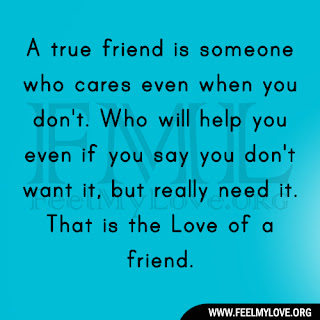 A true friend is someone who cares even