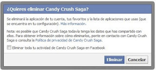 desinstalar Candy Crush Saga