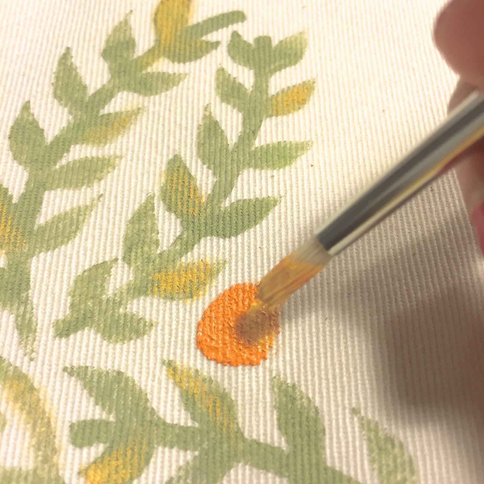 Delipapel: DIY Mantel individual con plantillas de verano y chalk paint