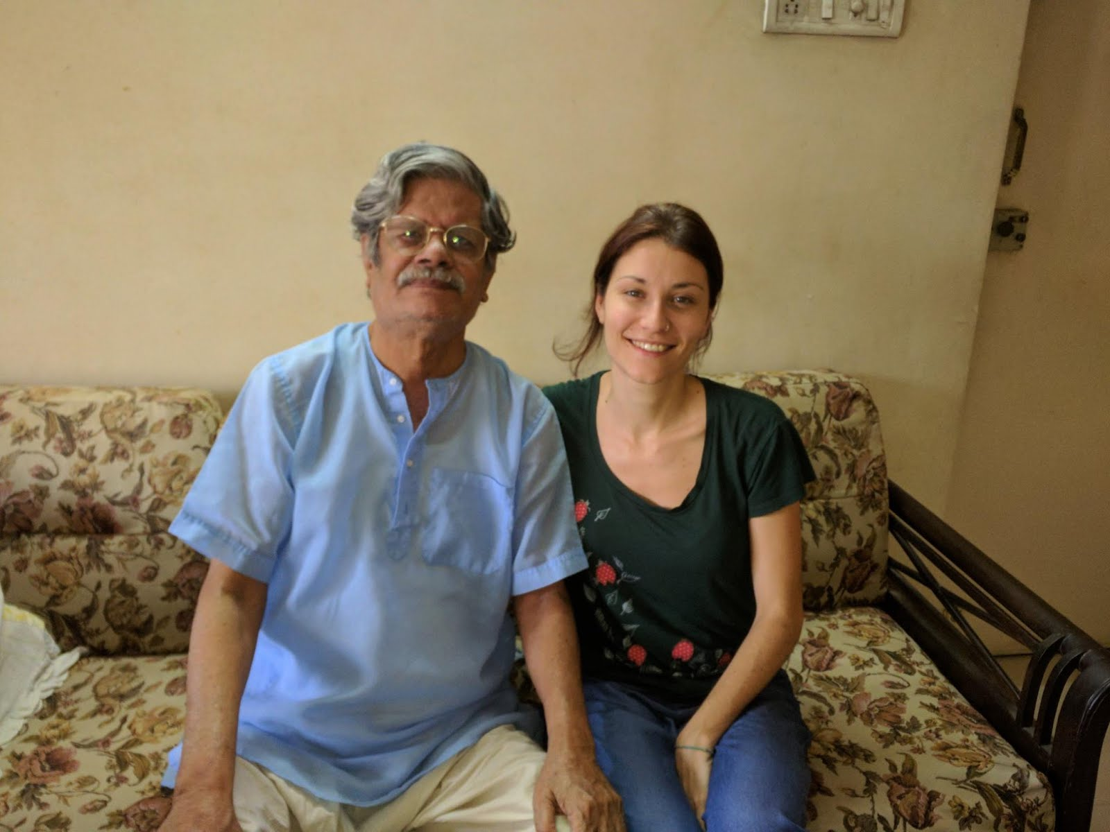 Daniela Cappello interviewing Malay Roychoudhury in 2017