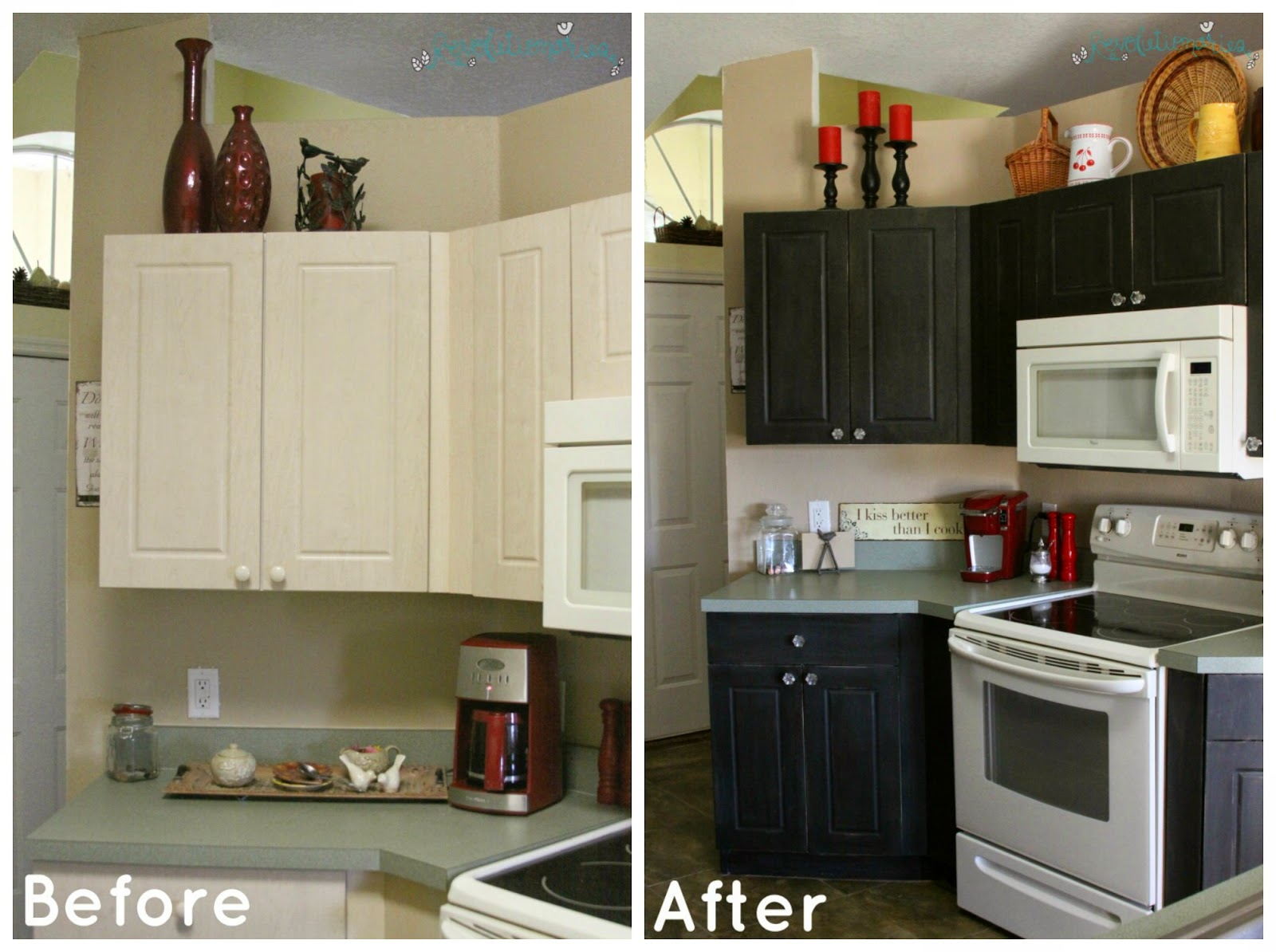 Chalk paint kitchen cabinets before and after can sloan for Can i paint kitchen cabinets with chalk paint
