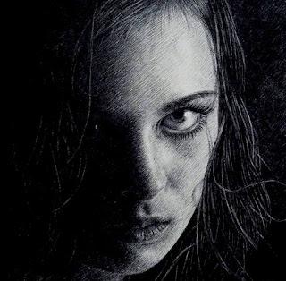 Dibujos Mujer Rostro Triste a Lápiz