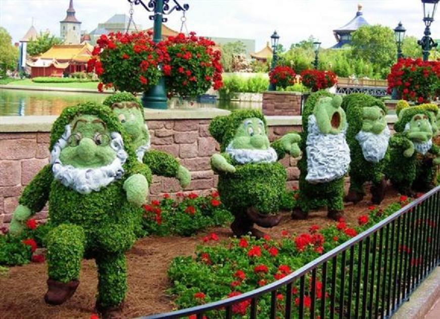 Artistic Disney Garden