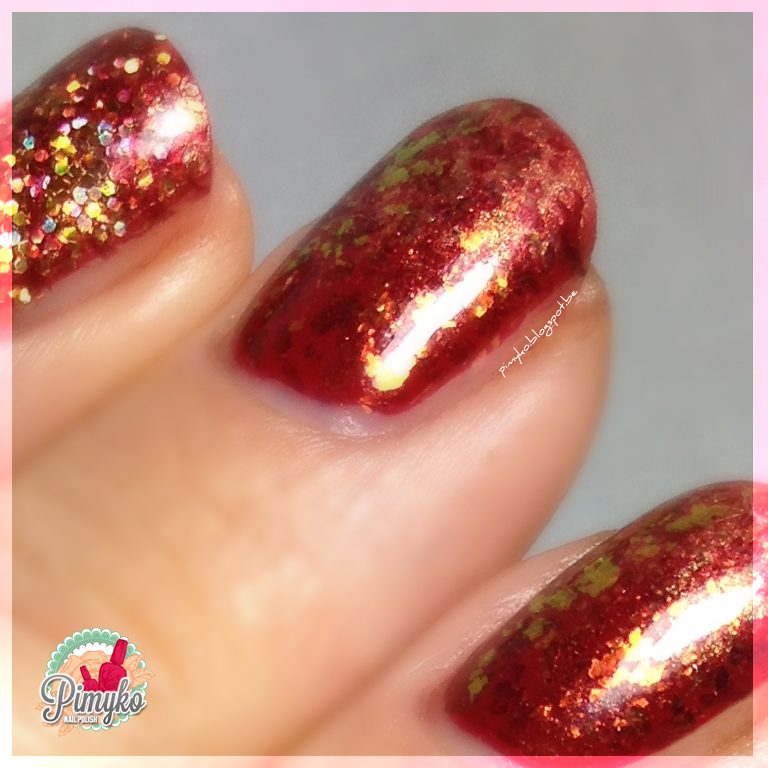 "pimyko nailart ""Robert's Red Ford"" by Catrice"
