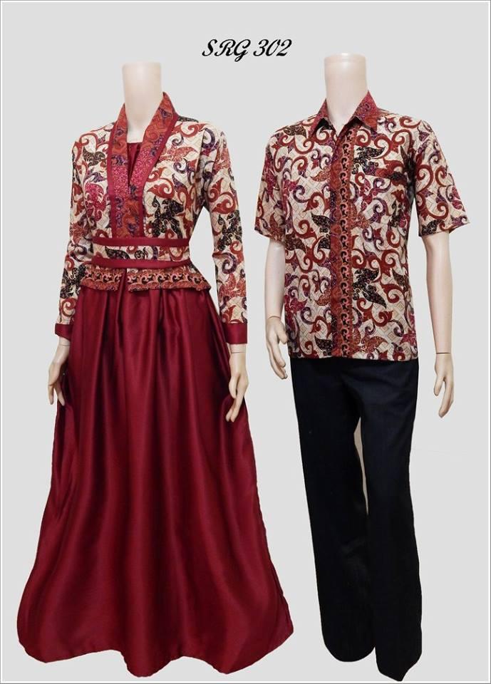 Batik Pasangan Model Gamis SRG 302