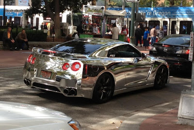 Chrome Nissan GTR