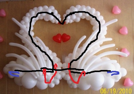Лебедь из шаров своими руками на свадьбу