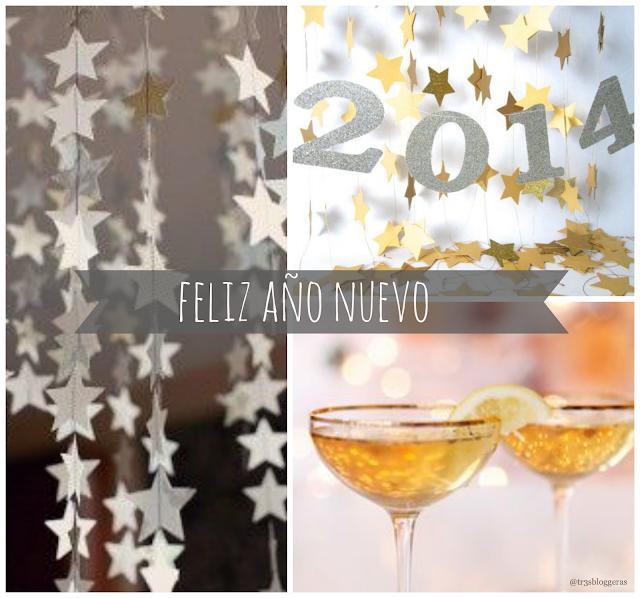 feliz año nuevo 2014 / happy new year 2014 / stars, champagne