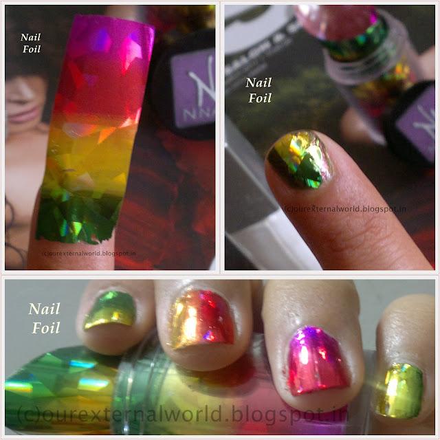 N.NAIL Hot Galaxy Diamond Hidden Nail Foil Transfer
