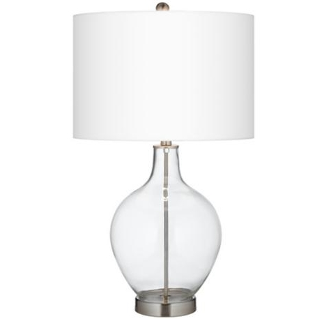 lamps plus Ovo glass table lamp