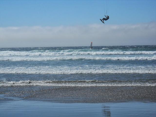kitesurfer at Manzanita