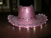 Pink sequence cowboy hat | Mikki Williams