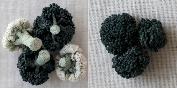 crochet art, crocheted brocoli by Itoamika Jung-jung