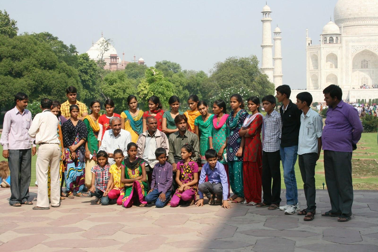 Viaje a India: Taj Mahal en Agra, familia