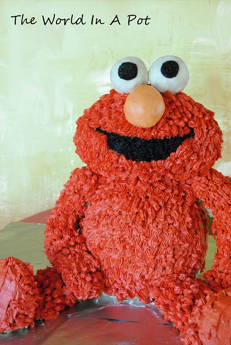 how to make an elmo cake