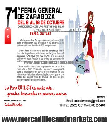 Mercadillos and markets feria outlet zaragoza for Feria outlet zaragoza