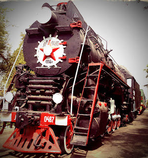 Tashkent railway museum locomotive